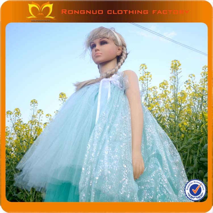 Out layered transparent Yarn Embroidery kids beautiful model dresses