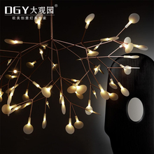 Hotel project lights lamp ceiling chandelier acrylic modern tree shaped LED hanging light
