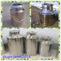 Stainless steel bucket for transport/storage milk