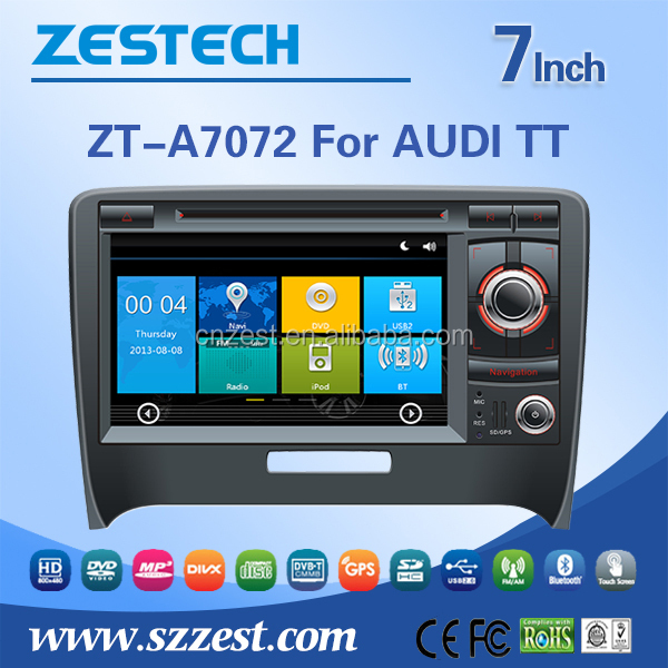 ZESTECH Car AccessoriesFor AUDI A4 car radio player wifi 3G, map, game. support Ipod, gps, AM/FM, BT, DVD, USB/SD, AUX, SWC,