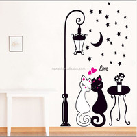 Love Couple Cat Wall Sticker Animal Figure Teaching Materail Daycare Nursery Decal Children's room decor stickers
