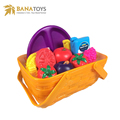 14pcs vegetables fruit food kitchen toy with storage bucket