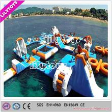 Giant inflatable water park , running man theme commercial giant inflatable floating water park
