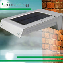 4W Solar motion senor led wall light with rechargeable battery