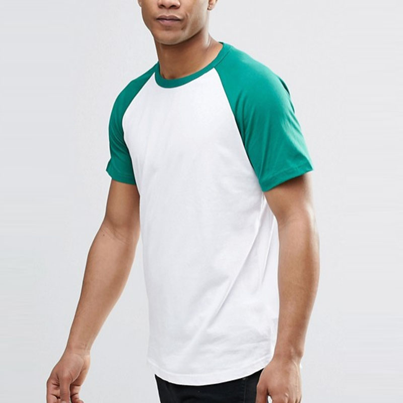 Henry Shirts Create Your Own Brand Made in Korea T Shirts Plain 100% Cotton Raglan Sleeve T-Shirts Man