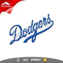Best Sale Custom Iron on Patches Dodgers Embroidery Digitizing Badge Patch for Garment