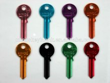 for professional locksmiths demand ultra light key UL050 colors key blank