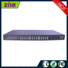 Zisa switch 24 GE+4GB port network switch for internet connection from shenzhen provider