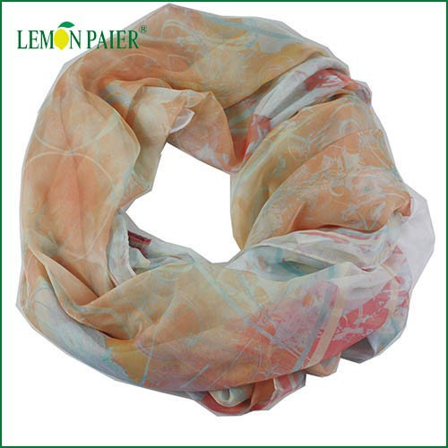 Custom Printing Chinese Scarf Reasonable Price Chiffon Polyester Scarf
