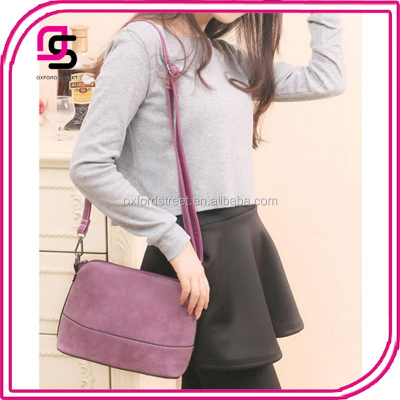 handbag manufactures China wholesale shell shaped vintage ladies sling bag leather designer handbag shoulder bag