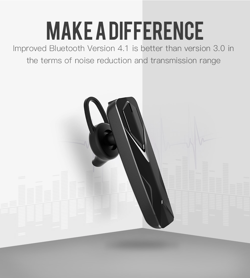 New design hot selling Single ear headset BT wireless in ear headset business headset with hands-free calling