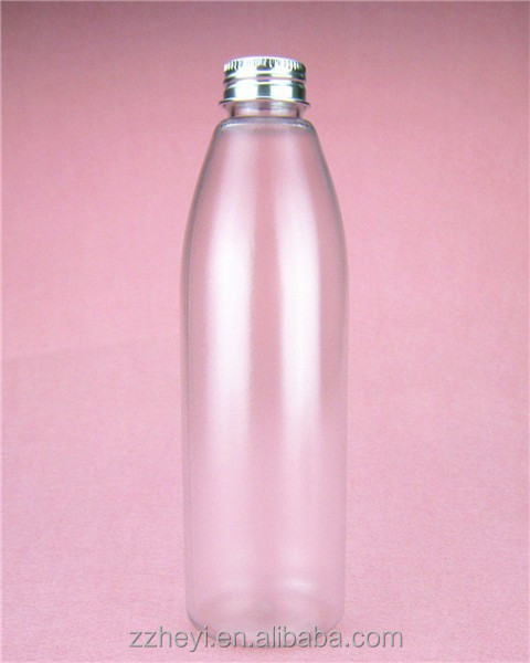9oz 255ml bullet shaped frosted plastic bottle used for cosmetic packaging