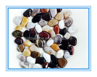 colorful landscaping flat pebble stone