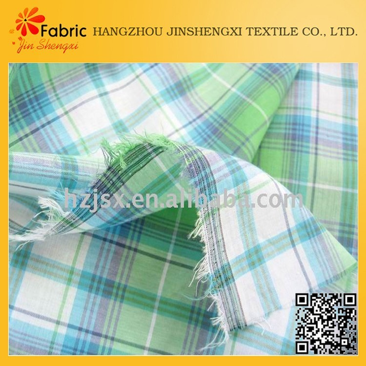 Competitive price quilting cotton cheap tartan plaid fabric