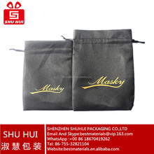 Satin bags with embroidery logo mesh drawstring gift bags custom printed zipper satin bag