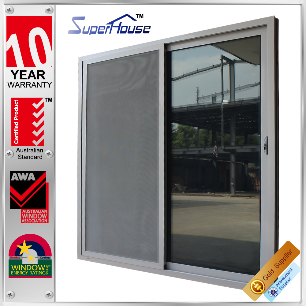 New zealand heat insulation patio commercial automatic sliding glass doors