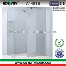 space saved frameless shower screen A1491B