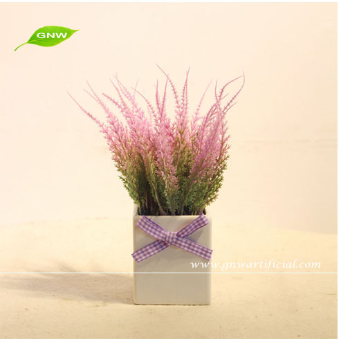 GP001-4 GNW artificial plant potted dried lavender flower for Home Garden and Wedding table decoration