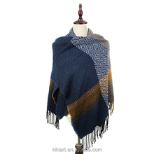 winter plaid poncho shawl and scarf oversize scarf poncho western style for women