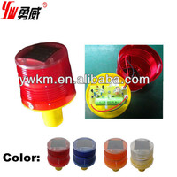 solar traffic safety led road cone flashing light