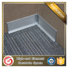 60/70/80/100mm aluminum flexible skirting board cover