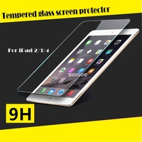 New Arrival!100% fit for ipad 2/3/4 full cover tempered glass screen protector welcome oem/odm