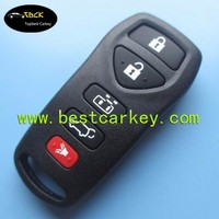 Topbest 5 button key remote case for smart key cover with panic button without letter on the backside car remote shell