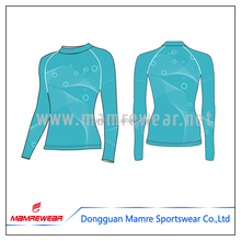 Fashion ladies running wear training long shirts,cheap custom printed long sleeve compression shirts