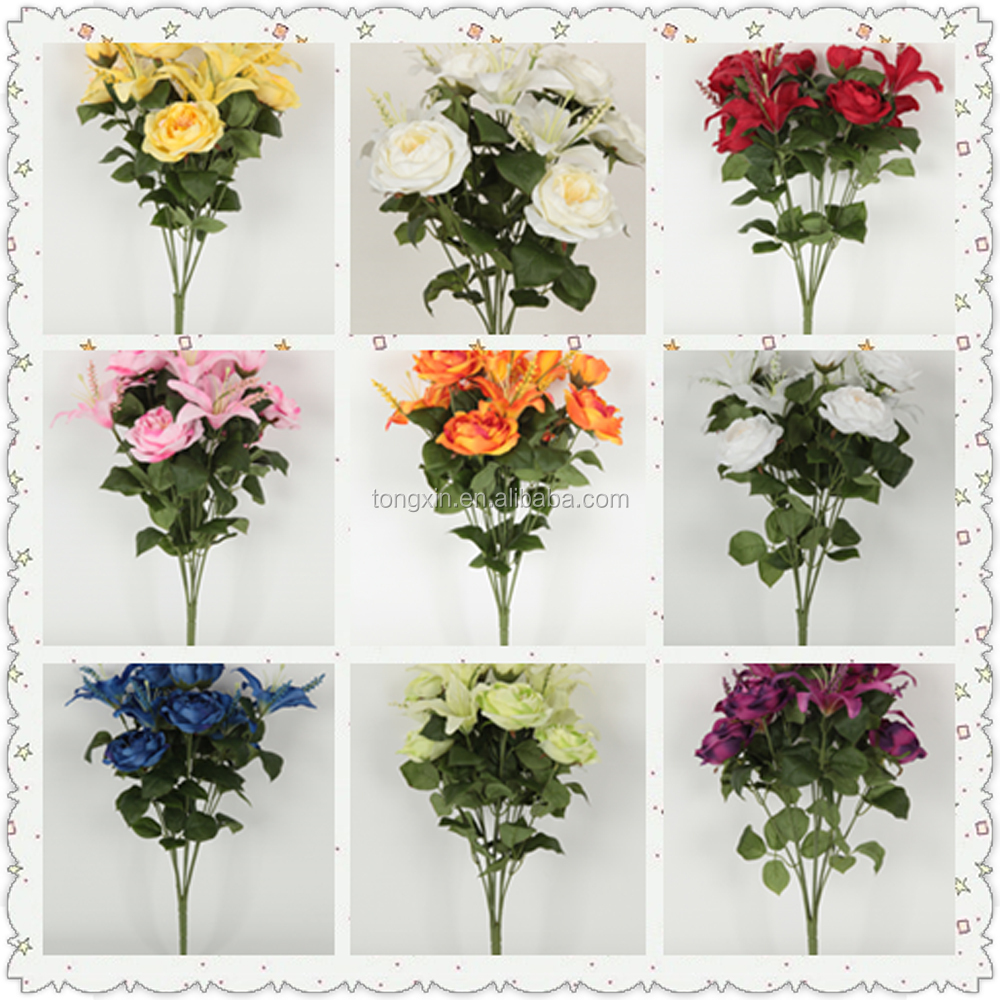 artificial festive occasion bouquet rose wedding flower
