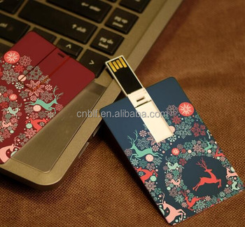 OEM gift card flash drive 100% grade A quality full color usb business card printing