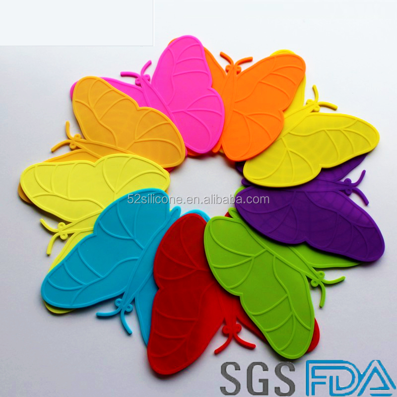 Butterfly placemat for kids dining table mat wholesale silicone rubber placemats
