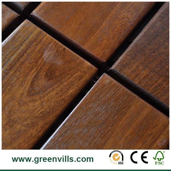 IPE Deck tile DIY 300X300X30mm China Factory price