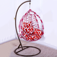 Promotion outdoor furniture rattan garden swing hanging egg chair