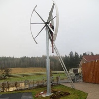TECHMLV3kw MAGLEV vertical axis wind turbine