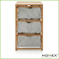 Fantastic bamboo 3 tier storage with canvas bag/HOMEX