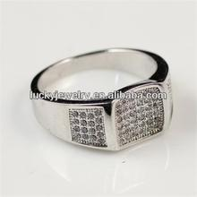 Fashion Jewelry Christmas Day Gift Silver Plated Men Rings Model Boss Finger Ring