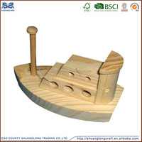 factory price decoration pine wooden boat wholesale