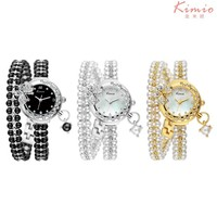 Fashion Butterfly Accessories Wrapped Around Watches Vogue Women Pearl Jewelry Set Bracelet Watch