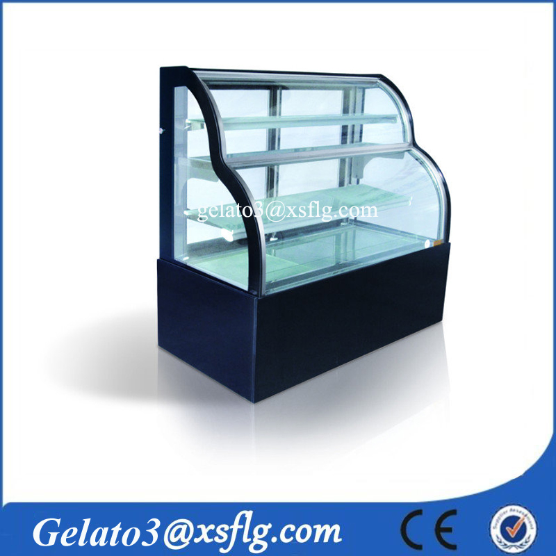Cake cabinet keep freshness/ frozen function chocolate display cooler