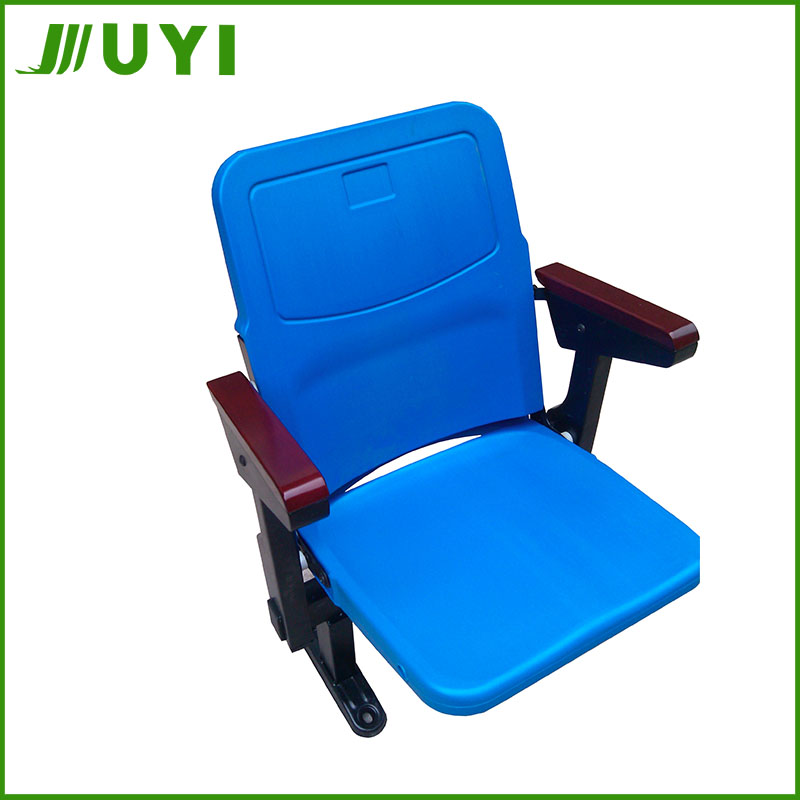 BLM-6211S Cost Efficient Modern Design Vip Stadium Seats Cheap Folding Blow Moulding HDPE Plastic Soft Cushion Steel Tube Chair