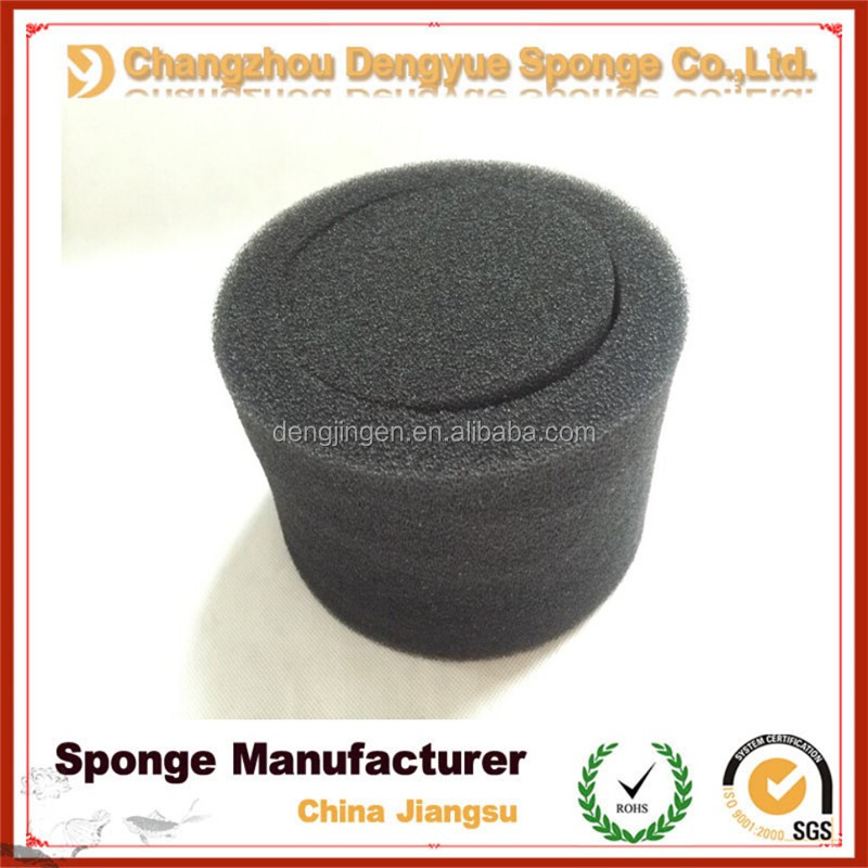 Bio water purification aquarium open cell round polyurethane sponge filter