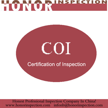 Iran Customs clearance COI certificate inspection