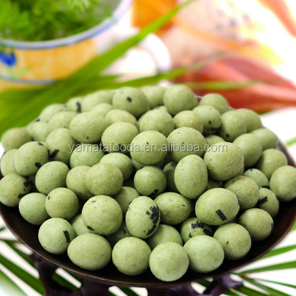 Roasted Seaweed Coated Peanuts with Wasabi Flavour