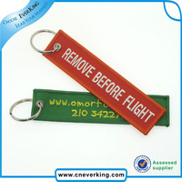 Custom Fabric Keychain,Remove Before Flight Key Tag