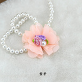 Manual chiffon rose pearl flower