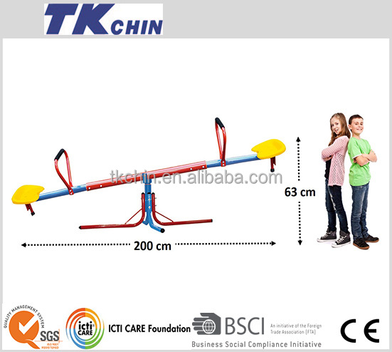 CE certificated kindergarten outdoor playground seesaw