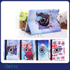 Popular cartoon pattern 360 degree rotate PU leather smart cover case for ipad 2 air