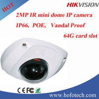 Hikvision 1080P ip camera,mini dome camera with POE