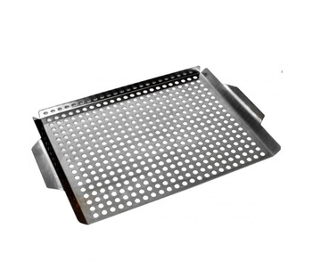 Non Stick Coated Outdoor Grill wok Topper Pan Grilling Grid