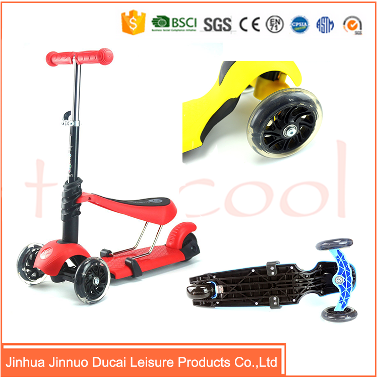 TK03 Best selling kick foot walking scooter with PP deck